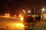 Sleigh ride in Ojcow National Park for small groups of 4 and 7 people with transport from Krakow